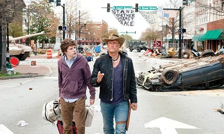 Among the living: Jesse Eisenberg and Woody Harrelson