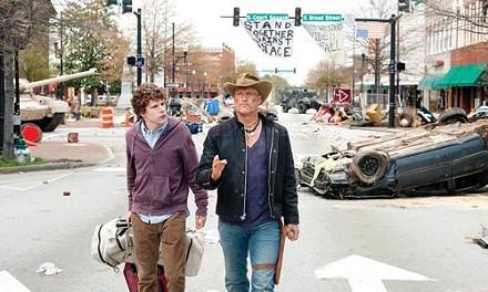 Among the living: Jesse Eisenberg and Woody Harrelson