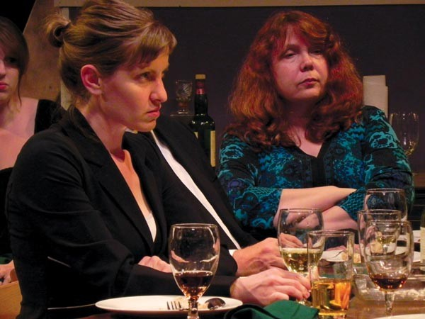 Amy Portenlanger (left) and Mary Randolph in August: Osage County, at Throughline Theatre.