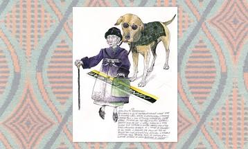 """An illustration from """"Notes From London"""" - ART BY ILENE WINN-LEDERER"""