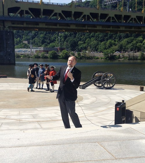 Andy Masich discusses the historical significance of cannons at Fort Pitt