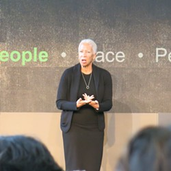 Angela Glover Blackwell at the p4 summit - PHOTO BY BILL O'DRISCOLL
