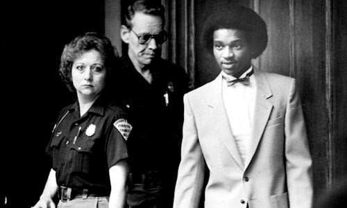 Another day, another trial: Darryl Hunt (right)