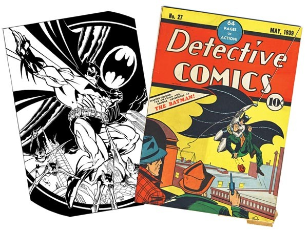 Art by Scott McDaniel (left) and image courtesy of New Dimension Comics (right)