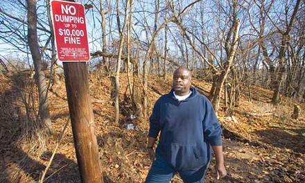 As a resident and Public Works employee, Mark Brentley keeps his eye out for illegal dumping.