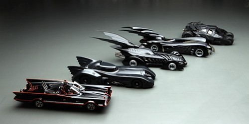 Assorted Batmobiles (not to scale)