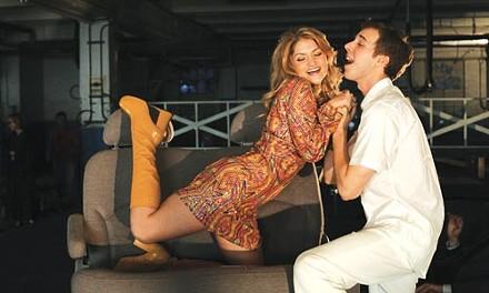 Automotive auto-da-f: Nicole Kaplan and John Wascavage in Quantum Theatre's Candide