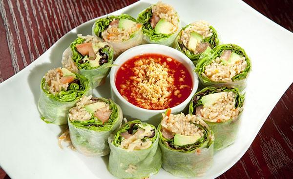 Avocado summer rolls from Asiatique Thai Bistro