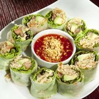 Asiatique Thai Bistro Avocado summer rolls Photo by Heather Mull