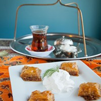 Istanbul Sofra Baklava and traditional tea service Photo by Heather Mull