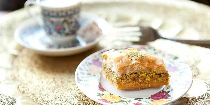 Dijlah Baklava and Turkish coffee Photo by Heather Mull