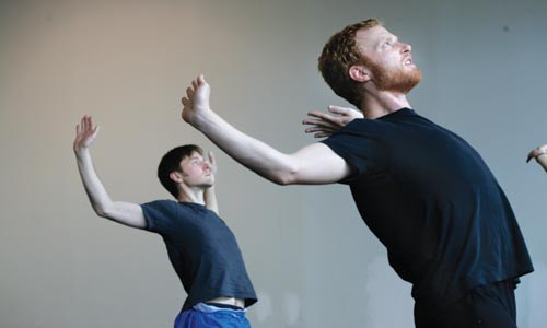 """Bandy (left) and Walsh rehearse Nora Chipaumire's """"Becoming Angels."""" - HEATHER MULL"""