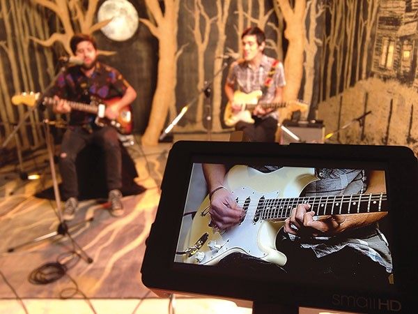 Barely Blind records a session at Altar TV last November