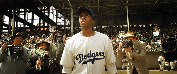 Batter up: Jackie Robinson (Chadwick Boseman)