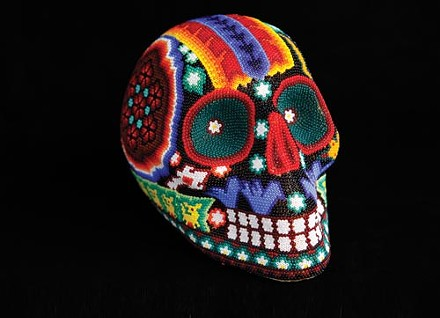 Beaded Huichol skull. - PHOTO BY HEATHER MULL