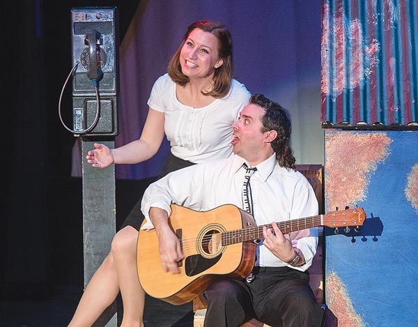Becca Chenette and Chris Martin in The Wedding Singer, at Stage 62.