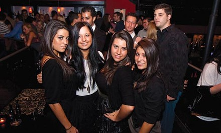 Being seen: (from left) Anna Delattre, Kelly Cortazzo, Rachel Hernic and Bobbi Witherite, at Zen Social Club - JOHN ALTDORFER