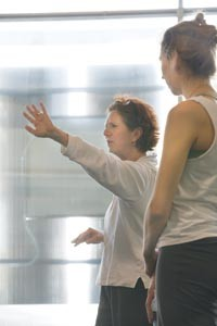 Beth Corning directs a Dance Alloy rehearsal. - HEATHER MULL