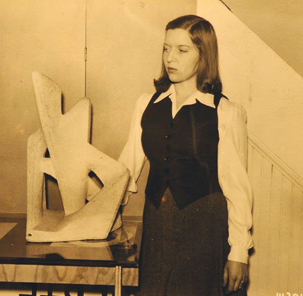 Betty Rockwell at Outlines in the 1940s.