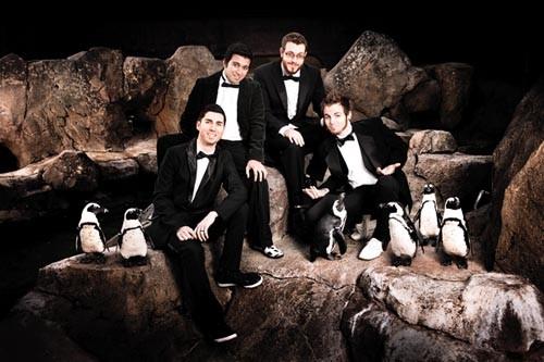 Big fans of the penguins: Mace Ballard (from left, Chris Daley, T.J. Angelo, Brandon Lehman, Steve LaRussa) - PHOTO COURTESY OF LUKE EVANS