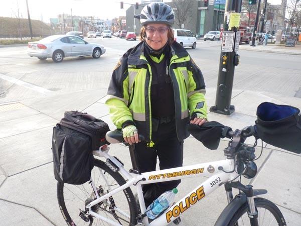 Bike officer Christine Scalise