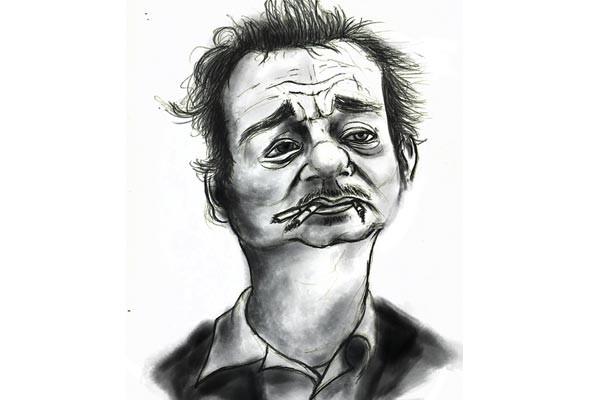 Bill Murray-inspired art by Dave Slebodnick