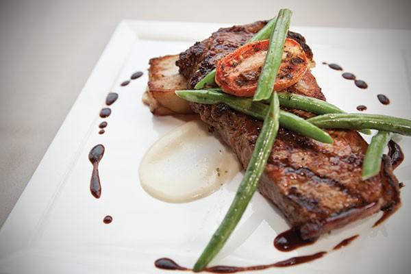Bloody Mary-marinated New York strip steak