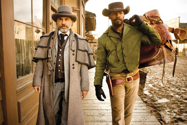 Bounty-hunters Christoph Walz and Jamie Foxx