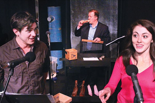 Brett Goodnack, Jason McCune and Andrea Weinzlierl in It's a Wonderful Life at Bricolage