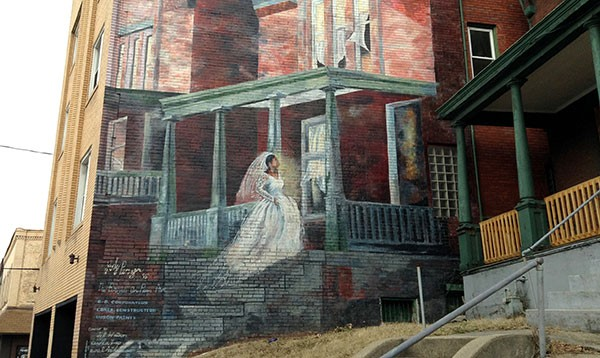 Bride mural in pittsburgh