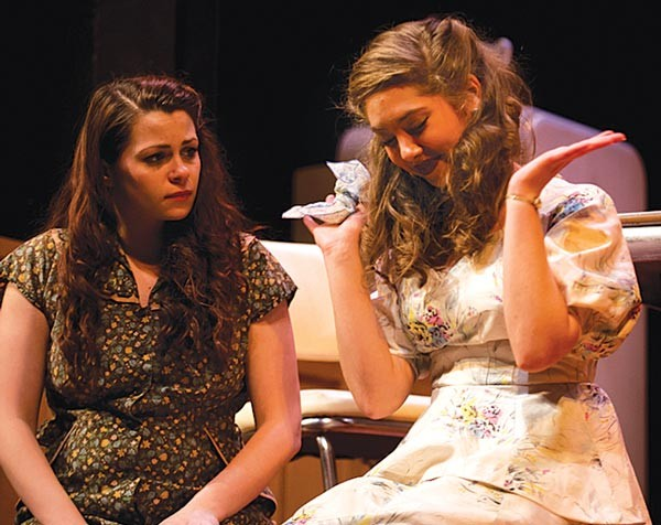 Brittany Dorazio (left) and Allie York in Point Park Conservatory's A Streetcar Named Desire - PHOTO COURTESY OF JEFF SWENSEN