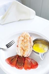 Broiled lobster tail - HEATHER MULL