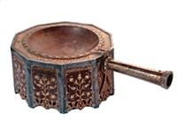 PHOTO COURTESY OF NATIONAL MUSEUM, RIYADH - Bronze incense-burner from Turkey, Ottoman dynasty, 1649 CE