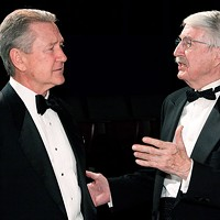 Bruce Crocker (left) and Paul Laughlin in Little Lake's <i>Black Tie</i>.