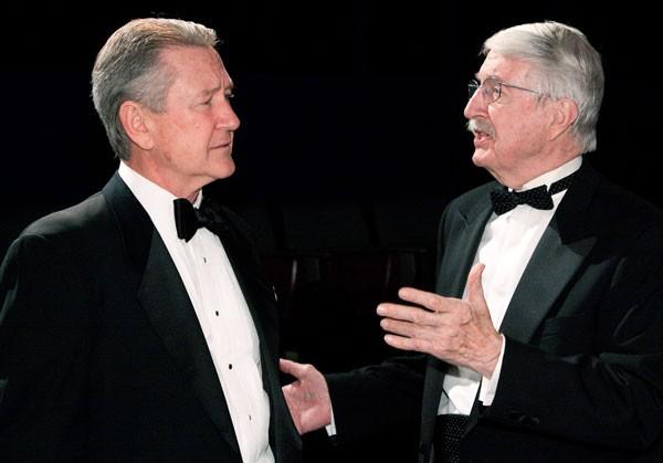Bruce Crocker (left) and Paul Laughlinin Little Lake's Black Tie.