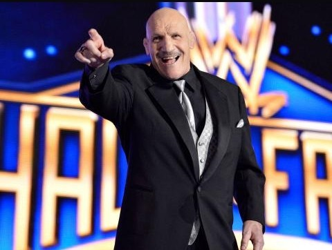 Bruno Sammartino at his Hall of Fame Induction