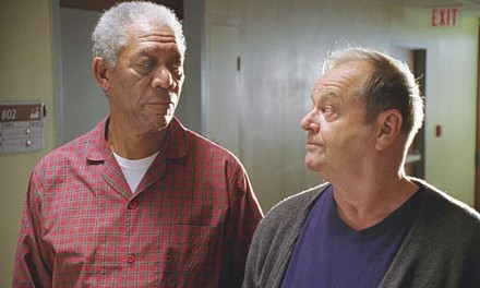Bucket buddies: Morgan Freeman and Jack Nicholson