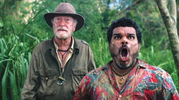 Bungle in the jungle: Michael Caine and Luis Guzman, on Mysterious Island