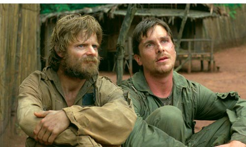 Camp buddies: Steve Zahn (left) and Christian Bale