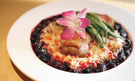 Canadian roast duck with blueberries and asparagus - HEATHER MULL