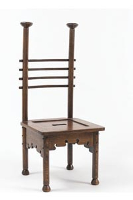CARNEGIE MUSEUM OF ART >> Charles Rohlfs, Ladder Back Chair, 1901