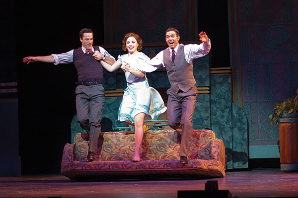 Cary Tedder, Mary Michael Patterson and David Elder in Singin' in the Rain, at Pittsburgh CLO