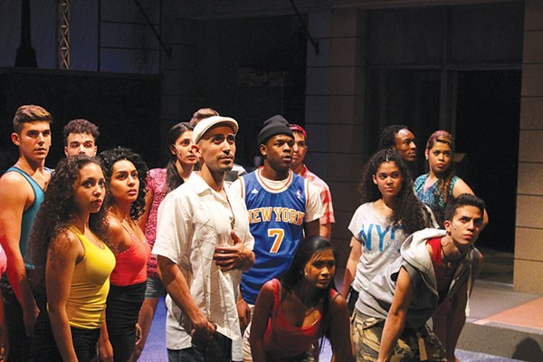 Cast of In the Heights, featuring Joe Caruncho Jr. (center, in white hat)