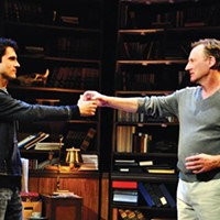 Charles Socarides (left) and Daniel Gerroll in City Theatre's <i>Seminar</i>.