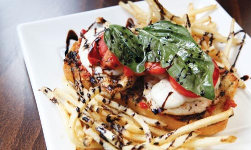 Chicken Caprese with balsamic reduction