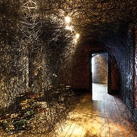 Chiharu Shiota transforms the Mattress Factory's newest space, partly with yarn