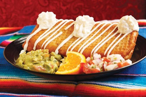 Chimichanga with beef, beans and cheese - PHOTO BY HEATHER MULL