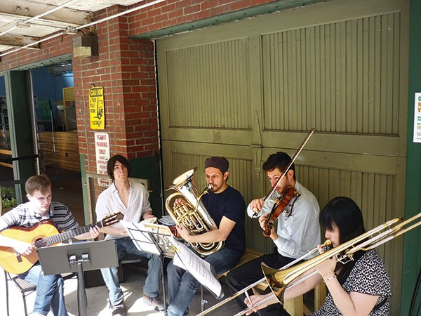 Choro No Vinho performs at Pittsburgh Public Market.