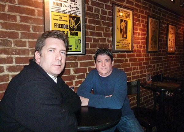 Chris Lasky and John Pergal inside Thunderbird Café - PHOTO BY LAUREN DALEY