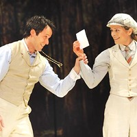 Christian Conn and Gretchen Egolf in Pittsburgh Public Theater's <i>As You Like It</i>.